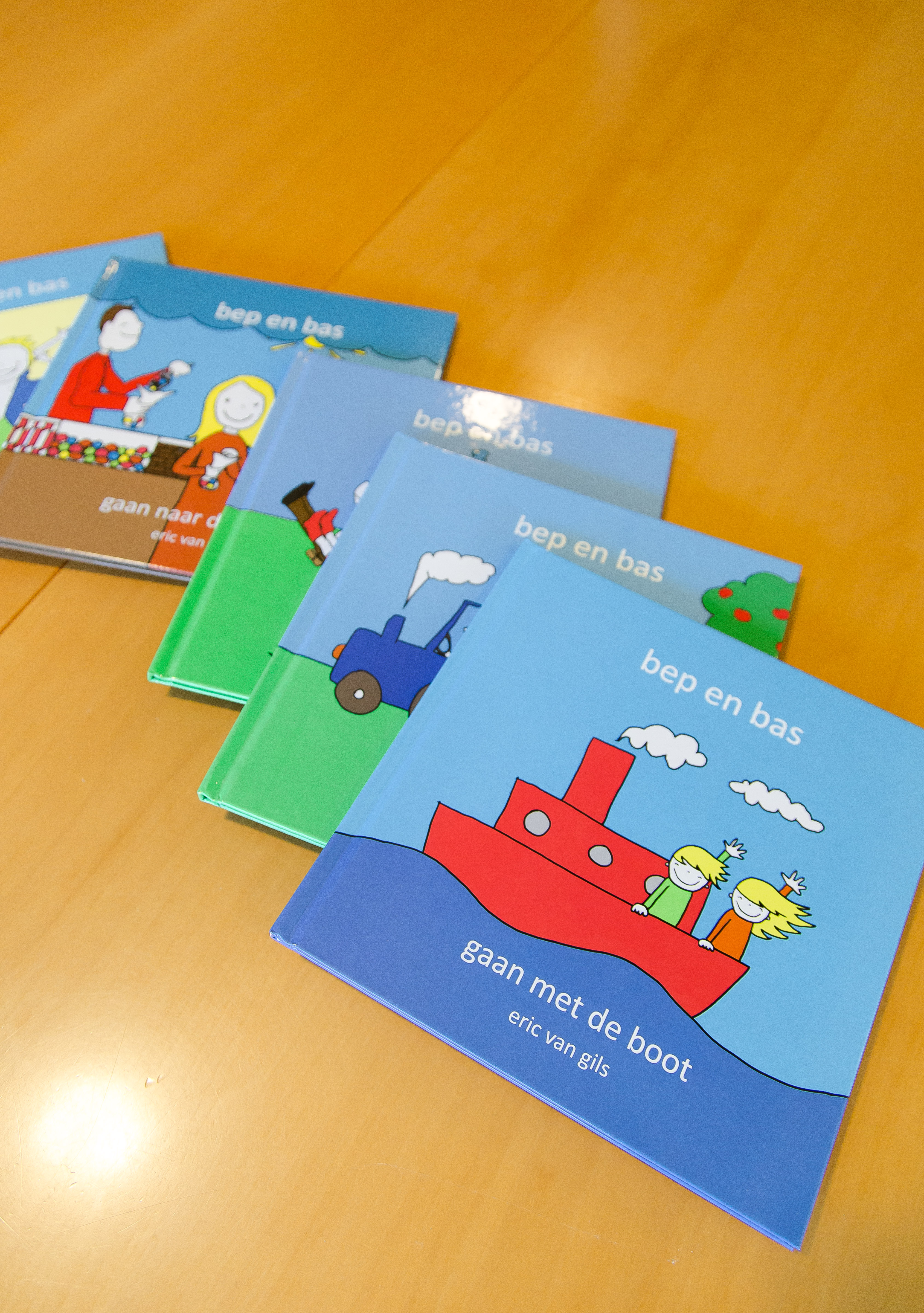Nu verkrijgbaar: alle 5 verschillende Bep en Bas boekjes